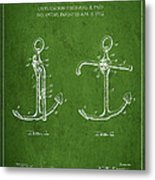 Vintage Anchor Patent Drawing From 1902 Metal Print