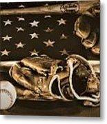 Vintage Baseball Metal Print