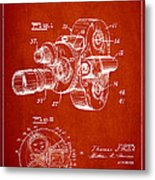 Vintage Camera Patent Drawing From 1938 Metal Print
