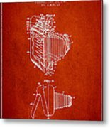 Vintage Film Camera Patent From 1948 Metal Print by Aged Pixel