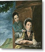 Vintage Mother And Son Metal Print