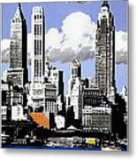 Vintage New York Travel Poster Metal Print