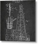 Vintage Oil Drilling Rig Patent From 1911 Metal Print