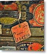 Vintage Steamer Trunk Metal Print