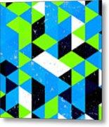 Vintage Triangle Pattern.geometric Metal Print