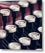 Vintage Typewriter Keys Metal Print