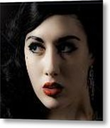 Vintage Woman  Metal Print by Lesley Rigg