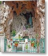 Virgin Mary Grotto Metal Print