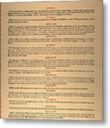 Virginia Constitution, 1776 Metal Print