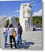 Visitors At The Martin Luther King Jr Memorial Metal Print
