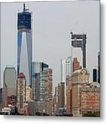1 W T C And Lower Manhattan Metal Print