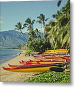 Kenolio Beach Sugar Beach Kihei Maui Hawaii  Metal Print