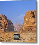 Wadi Rum In Jordan Metal Print by Robert Preston