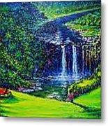 Waimea Falls  Metal Print by Joseph   Ruff