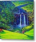 Waimea Falls L  Metal Print