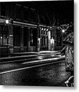 Walking In The Rain   Metal Print by Bob Orsillo