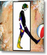 Walking Out Of Picture Frame Metal Print
