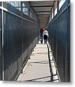 Walking Together Metal Print