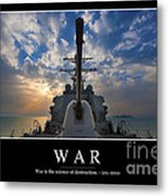 War Inspirational Quote Metal Print by Stocktrek Images
