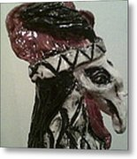 Warrior Rooster Metal Print by Suzanne Berthier