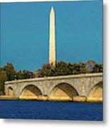 Washington D.c. - Memorial Bridge Spans Metal Print