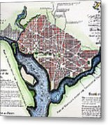 Washington, Dc, Plan, 1792 Metal Print