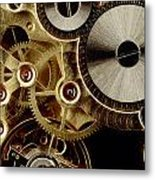 Watch Mechanism. Close-up Metal Print
