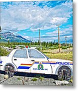 Watch Out For The Rcmp Near Destruction Bay In Yukon-canada Metal Print