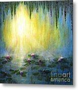 Water Lilies At Sunrise Metal Print