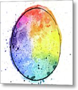 Watercolor Painting Of A Colorful Metal Print