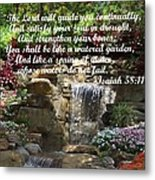 Watered Garden Metal Print