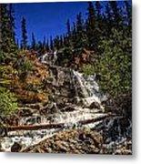 Waterfall In Jasper 1 Metal Print