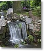waterfall in park Klarenbeek in Arnhem Netherlands Metal Print