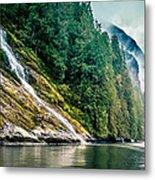 Waterfall Jervis Inlet Metal Print
