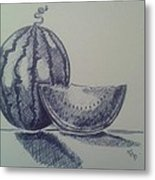 Watermelon Metal Print by Emese Varga