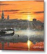 Wawel Sunrise Krakow Metal Print