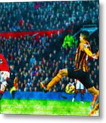 Wayne Rooney Of Manchester United Scores Their Second Goal Metal Print
