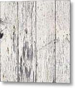Weathered Paint On Wood Metal Print
