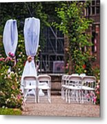 Wedding Arrangement In De Haar Castle. Utrecht Metal Print by Jenny Rainbow