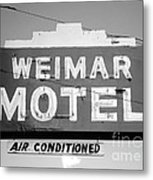 Weimar Motel Sign Metal Print