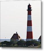 Westerhebersand Lighthouse - North Sea - Germany Metal Print