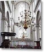 Westerkerk Interior In Amsterdam Metal Print