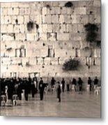 Western Wall Photopaint One Metal Print
