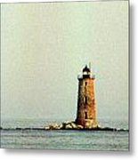 Whaleback Lighthouse Metal Print