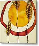 Wheat And Sun Metal Print