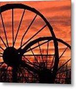 Wheel-n-axle Sunset.. Metal Print