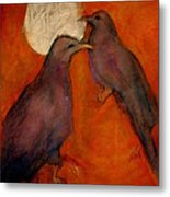 When Crow Made The Moon Metal Print by Johanna Elik