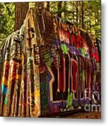 Whistler Train Derailment Box Car Metal Print