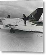 White Christmas Guaranteed For The Raf At Goose Bay Metal Print