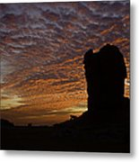 White Desert Sunrise Metal Print